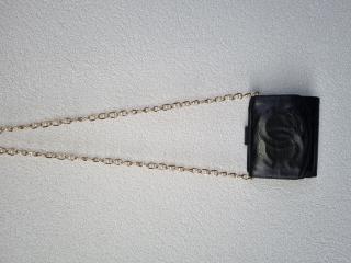 Chanel Black Lambskin CC VIntage Trifold Wallet