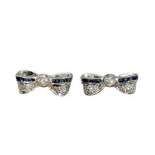 Bespoke Sapphire & Diamond Ribbon Earrings