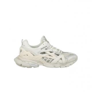 Balenciaga Ivory Track.2 open sneakers