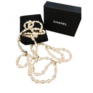 Chanel Ivory Baroque Pearl Necklace