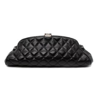 Chanel Black Quilted Leather Mademoiselle Clutch