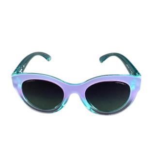 Chanel Turquoise Butterfly Sunglasses