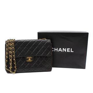 Chanel Vintage Lambskin Large Classic Flap Bag - 24kt Gold HW