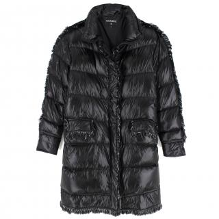 Chanel Coco Neige Quilted Goose Down Black Jacket