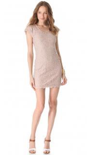 DVF Nude Lace Wanda Mini Dress