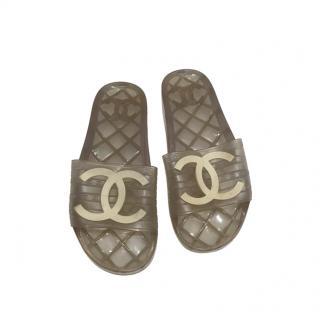 Chanel CC Jelly Pool Slides