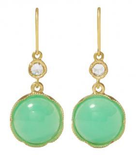 Irene Neuwirth green Chrysoprase and diamond earrings