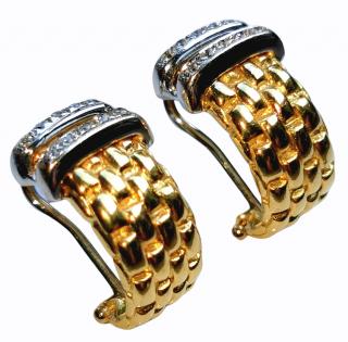 Fope 'Maori' Collection diamond and gold earrings
