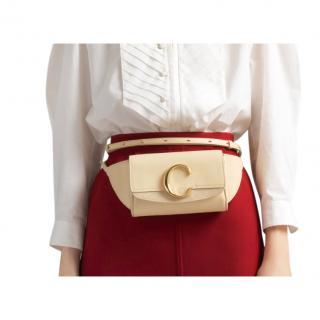 Chloe blondie beige C belt bag
