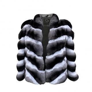 FurbySD Ranched Chinchilla stand up collar jacket