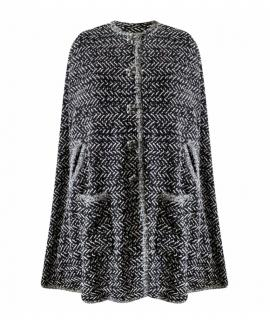 Chanel rare reversible tweed cape/jacket/coat with jewelled buttons