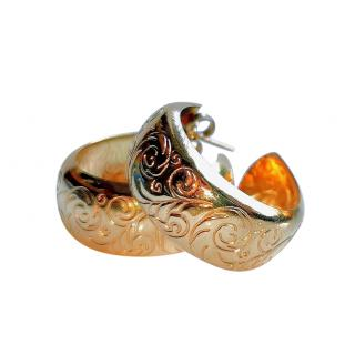 Bespoke vintage gold hoop earrings