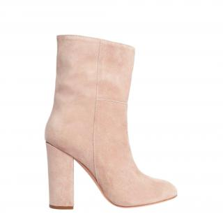 Iris and Ink light beige suede ankle boots