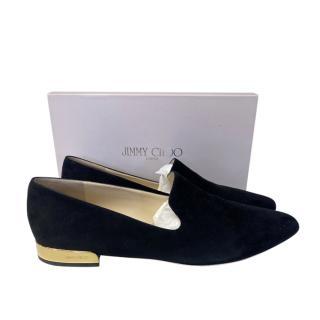 Jimmy Choo black suede Jaida loafers