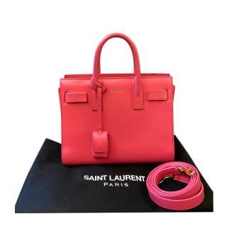 Saint Laurent pink leather Nano Sac De Jour bag