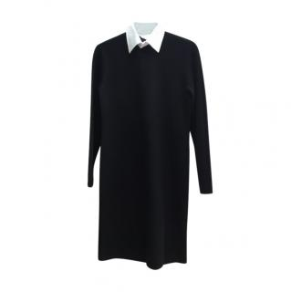 Ralph Lauren Polo black knit dress with white collar