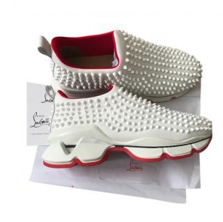 Louboutin white spike sock Donna sneakers
