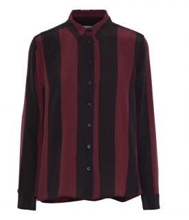 Ganni striped Maple silk shirt