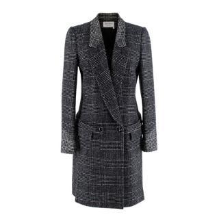 Yves Saint Laurent Grey Wool-Blend Coat