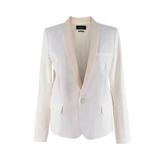 Isabel Marant Ivory Linen Blend Single Breasted Blazer