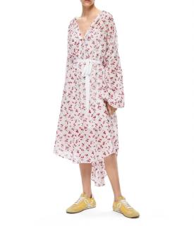 Loewe  floral jacquard silk mix dress