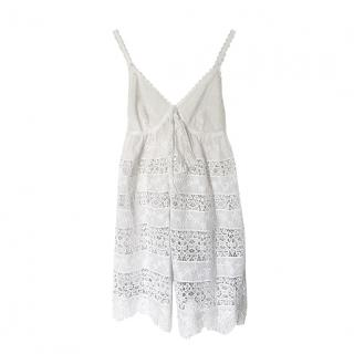 Dolce & Gabbana off white lace baby doll dress