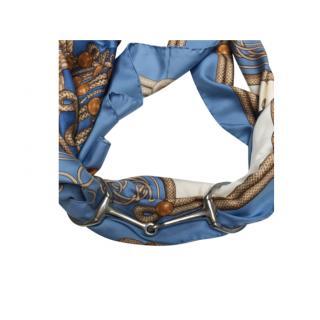 Hermes Horse bit buckle scarf ring
