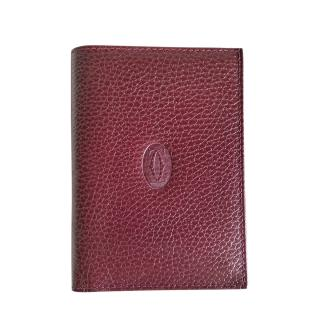 Cartier burgundy red leather gents wallet