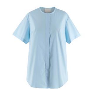3.1 Phillip Lim Cotton&Silk Short Sleeve Light Blue Shirt