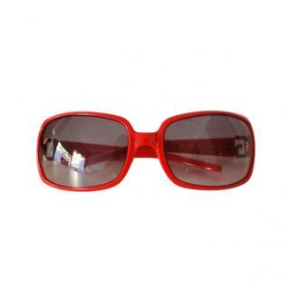 Dolce & Gabbana rhinestone embellished red sunglasses