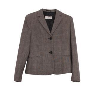 Max Mara tailored brown wool blazer
