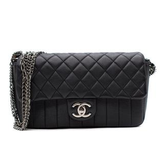 Chanel Black Quilted multi chain small Flap Handbag