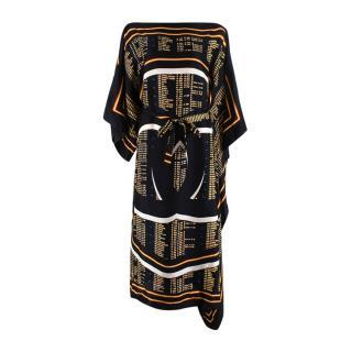 Chanel Black Silk Cover Up Kaftan