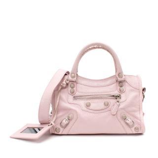Balenciaga Pink Leather Classic City Mini Tote Bag