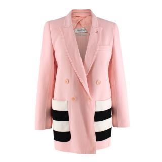 Max Mara Pink Wool Blazer Jacket