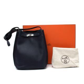 Hermes So Kelly Navy Blue Shoulder Tote Bag