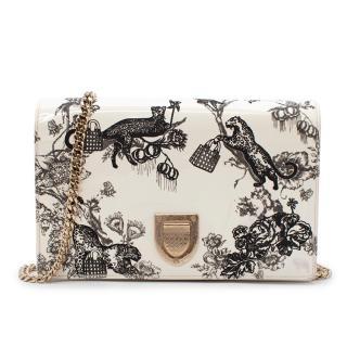 Dior Jungle Print Patent Shoulder Bag