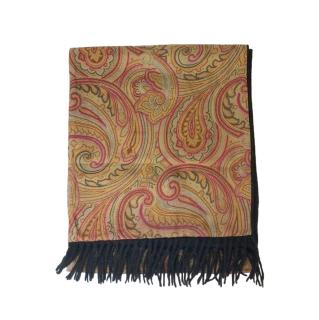 Etro silk and cashmere paisley scarf