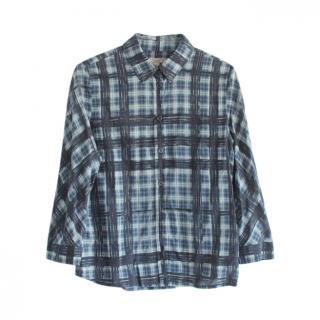 Burberry blue plaid shirt