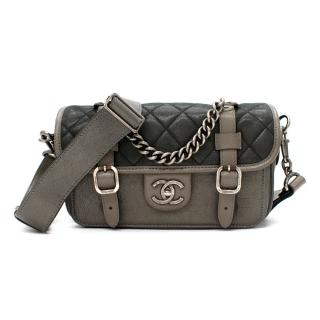 Chanel Quilted Leather Aged Buckle Flap Satchel Bag