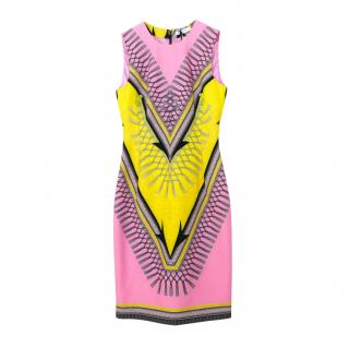 Versace Collection stretch pink crepe dress