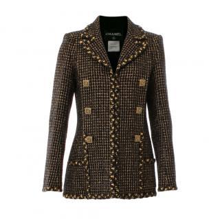 Chanel Paris/Byzance gold Lesage tweed Jacket/Coat