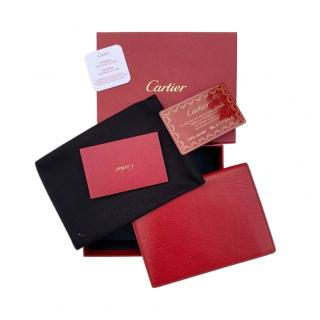 Cartier red leather passport cover/wallet