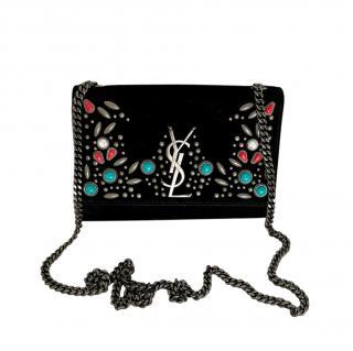 Saint Laurent embellished Kate berber bag
