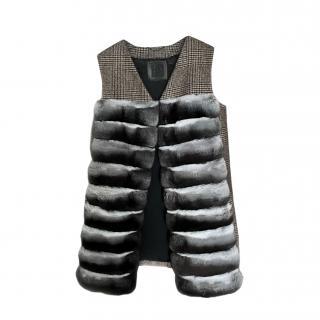 FurbySD Chinchilla Fur Gilet