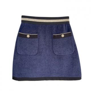 Chanel La Pausa navy mini skirt