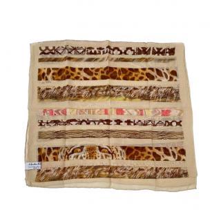 Salvatore Ferragamo animal print silk scarf