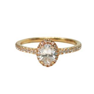 Rivoir diamond halo ring