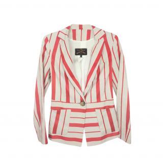 Vivienne Westwood Anglomania striped linen blazer