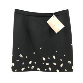 Christopher Kane embellished black mini skirt